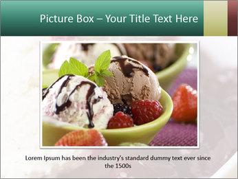 Scoop of homemade vanilla ice cream PowerPoint Template - Slide 15