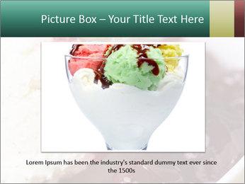 Scoop of homemade vanilla ice cream PowerPoint Templates - Slide 16