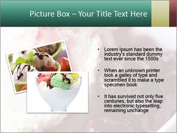 Scoop of homemade vanilla ice cream PowerPoint Template - Slide 20