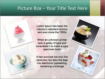 Scoop of homemade vanilla ice cream PowerPoint Template - Slide 24
