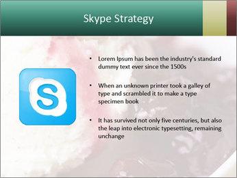 Scoop of homemade vanilla ice cream PowerPoint Templates - Slide 8