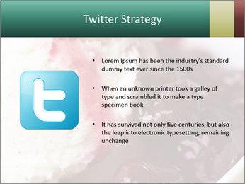 Scoop of homemade vanilla ice cream PowerPoint Templates - Slide 9