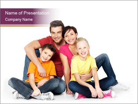 Portrait of the happy family PowerPoint Templates
