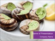 Escargots with garlic butter PowerPoint Templates