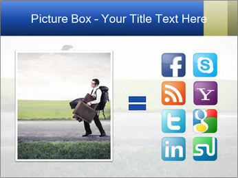 Businessman walking PowerPoint Templates - Slide 21
