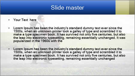 Businessman walking PowerPoint Template - Slide 2