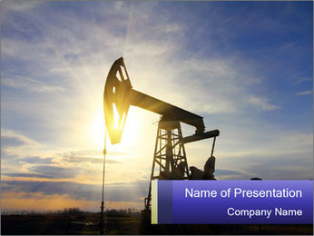 Working oil pump PowerPoint Templates - Slide 1