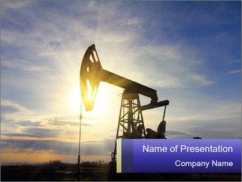 Working oil pump PowerPoint Template - Slide 1