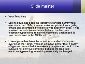 Working oil pump PowerPoint Template - Slide 2