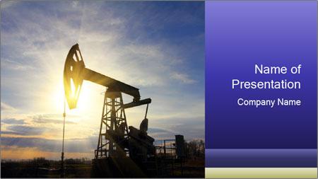 Working oil pump PowerPoint Template