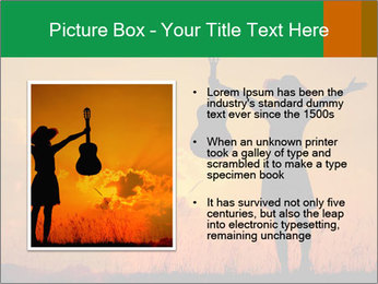 Woman and guitar PowerPoint Templates - Slide 13