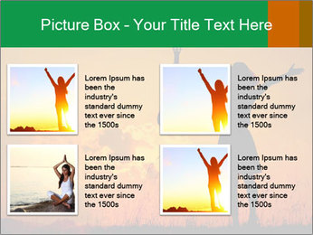 Woman and guitar PowerPoint Templates - Slide 14