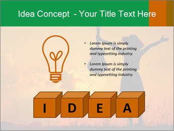 Woman and guitar PowerPoint Templates - Slide 80