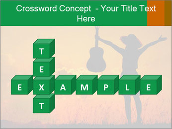 Woman and guitar PowerPoint Templates - Slide 82