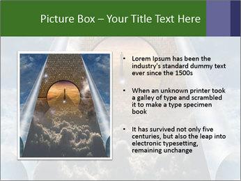 Sky splits open showing PowerPoint Template - Slide 13