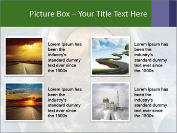 Sky splits open showing PowerPoint Templates - Slide 14