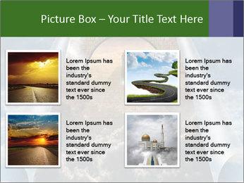 Sky splits open showing PowerPoint Template - Slide 14