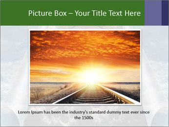 Sky splits open showing PowerPoint Template - Slide 15