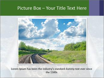 Sky splits open showing PowerPoint Template - Slide 16
