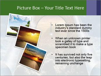 Sky splits open showing PowerPoint Template - Slide 17