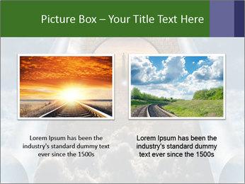 Sky splits open showing PowerPoint Template - Slide 18