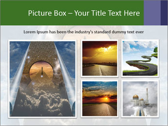 Sky splits open showing PowerPoint Template - Slide 19