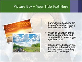 Sky splits open showing PowerPoint Template - Slide 20