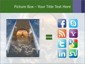 Sky splits open showing PowerPoint Template - Slide 21