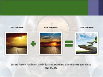 Sky splits open showing PowerPoint Template - Slide 22