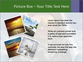 Sky splits open showing PowerPoint Template - Slide 23