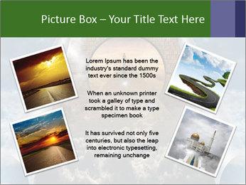 Sky splits open showing PowerPoint Template - Slide 24