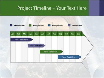 Sky splits open showing PowerPoint Template - Slide 25