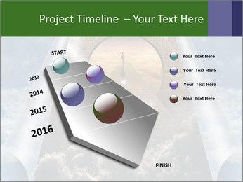 Sky splits open showing PowerPoint Template - Slide 26