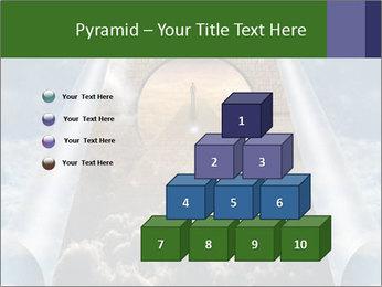 Sky splits open showing PowerPoint Template - Slide 31