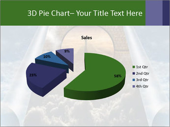 Sky splits open showing PowerPoint Templates - Slide 35