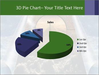 Sky splits open showing PowerPoint Template - Slide 35