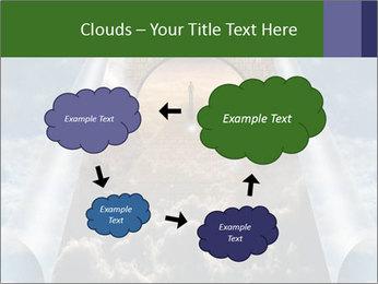 Sky splits open showing PowerPoint Template - Slide 72