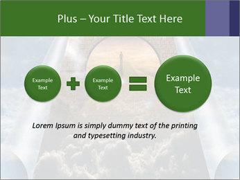 Sky splits open showing PowerPoint Template - Slide 75
