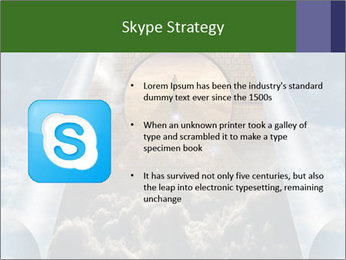 Sky splits open showing PowerPoint Templates - Slide 8