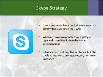 Sky splits open showing PowerPoint Template - Slide 8