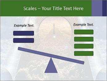 Sky splits open showing PowerPoint Template - Slide 89