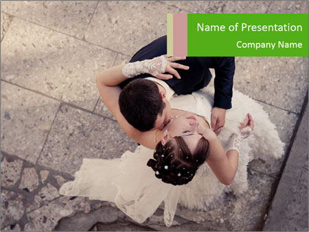 Happy young bride PowerPoint Templates