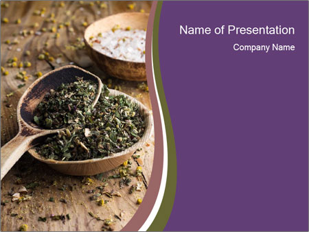 Dried chamomile flowers PowerPoint Templates
