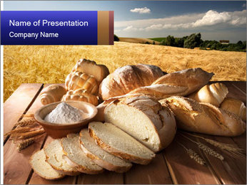 Bread and oil PowerPoint Template - Slide 1