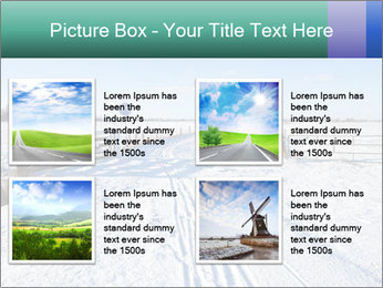 Bicycle road by Dutch windmill PowerPoint Template - Slide 14