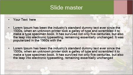 Flowers on wooden PowerPoint Template - Slide 2