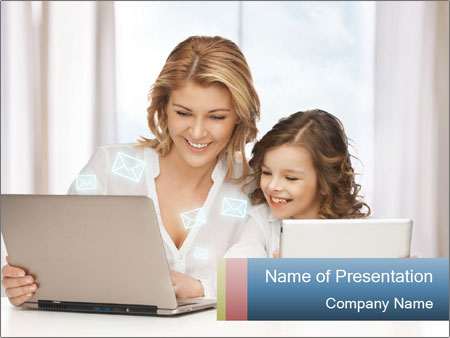 Mother and daughter PowerPoint Templates