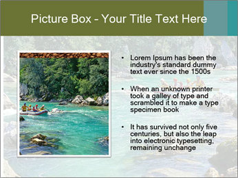 White water rafting PowerPoint Template - Slide 13