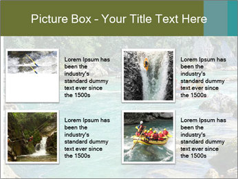 White water rafting PowerPoint Template - Slide 14