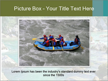 White water rafting PowerPoint Template - Slide 16
